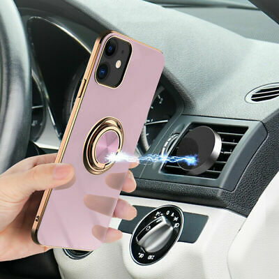 For iPhone XS Max XR X 8 7 6s Plus Protective Slim Magnet Ring Holder Case Cover