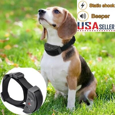 Electric Remote Control Anti Bark Collar No Shock Pet Dog Training Ultrasonic US