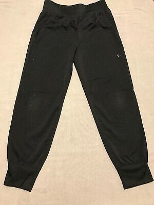 Girls Danskin Now Activewear Exercise Jogger Pants Black Size Small (6/6X)