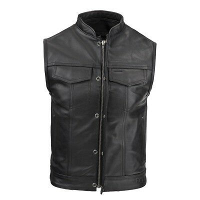 New Fox Creek Leather Rebel Motorcycle Vest Size Small 38