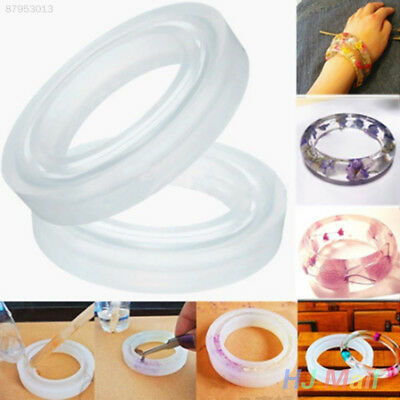D5F9 Round Silicone Resin Curve Bangle Mould Mold Handmade Jewelry Making Tool
