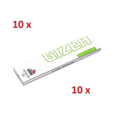 10 booklets Gizeh Super Fine King Size Slim Magnet Rolling paper 330 papers