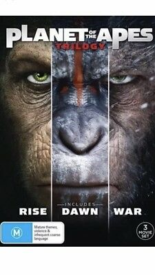PLANET OF THE APES TRILOGY (DVD, 2018) Aussie Release