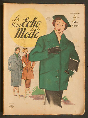 'echo De La Mode' French Vintage Newspaper 21 January 1951
