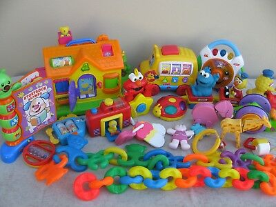 Fisher price and other bulk lot of baby toys - total of 19 items