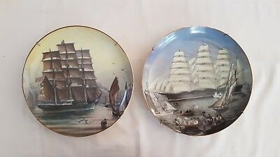 2 Franklin Mint Collector Plates. Great Clipper Ships by LJ Pearce 2 of 12 set