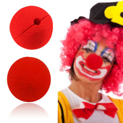 10 PCS Party Sponge Ball Red Clown Magic Nose for Halloween Masquerade Ball 5cm