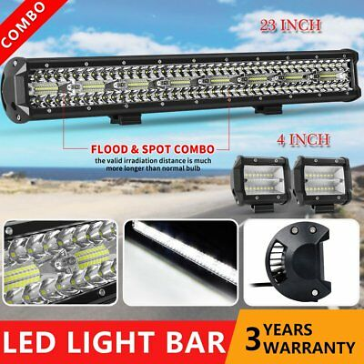 """23inch Philips LED Light Bar Combo Tri Rows Offroad Driving Work Truck 20"""" 22"""""""