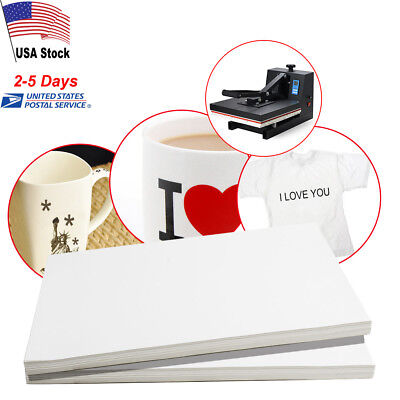 100 Sheets A4 Dye Sublimation Heat Transfer Paper for Mug Cup T-Shirt White NEW