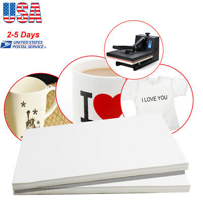 100 Sheets A4 Dye Sublimation Heat Transfer Paper for Mug Cup Plate T-Shirt new