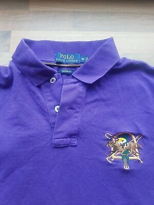 POLO by Ralph Lauren. Purple Polo T-shirt. M Custom Fit. Short sleeve