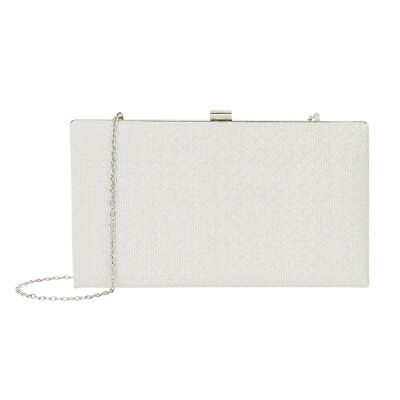 Accessorize Monsoon Colette Silver Clutch Bag Wedding Prom Party Evening New