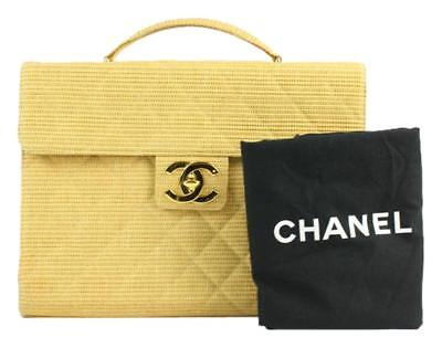 d6a3aebb CHANEL CLASSIC FLAP Quilted Jumbo Attache Beige Laptop Bag 212197