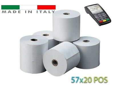 💰 50 ROTOLI TERMICI mm 57x20 per Dispositivo POS Carta Termica Anima 12 💲
