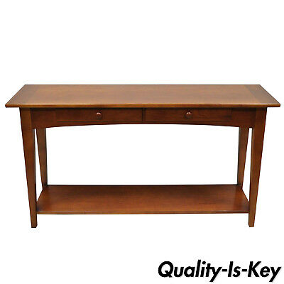 """Stanley Cherry Wood Arts & Crafts Mission Style 54"""" Console Sofa Hall Table"""