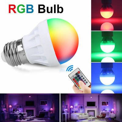 Home Decor Memory RGBW LED Bulb 16 Colors Changing Light Lamp IR Remote Control