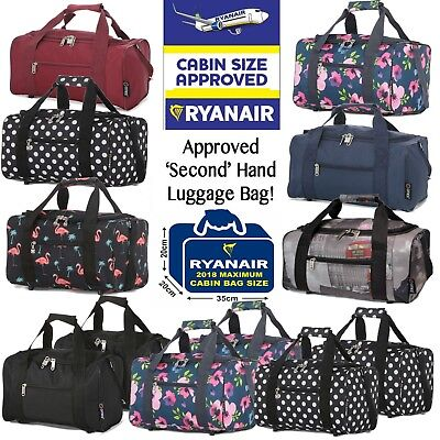 Hand Cabin Bag Luggage Travel Holdall Gym Small Under Seat Ryanair 35 x 20 x 20
