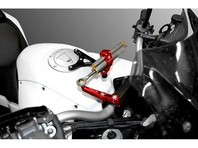 Ducabike Ducati Multistrada 1200 Ohlins Steering Damper Kit 2010-14 - Black-Red