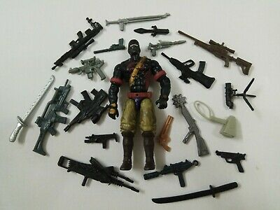 "3.75/"" Gi Joe Blue Green Night Creeper with weapons Action Figure  Rare Figure"