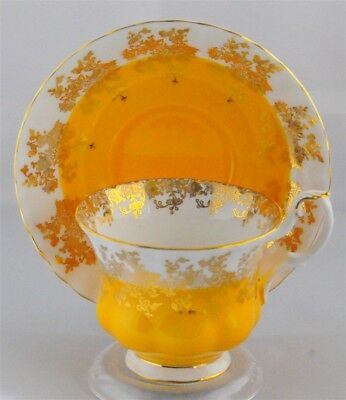 Royal Albert Regal Series Yellow Gold Tea Cup & Saucer