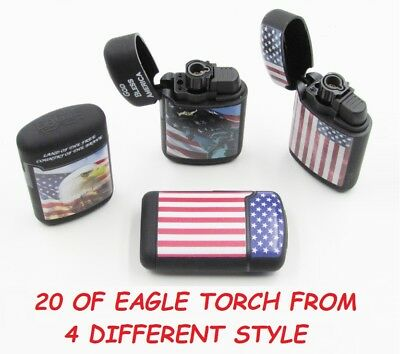 20 Ct USA Eagle Jet Torch Lighter Wind Proof Lighters BALD EAGLE STAR SPANGLED