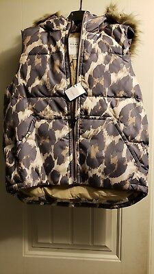 14349dd01 NWT COACH WOMENS Puffer Animal Leopard Print Vest Size Medium M ...
