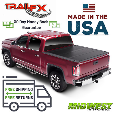 "TrailFX Low Profile Hard TriFold Tonneau Cover Fits 2019 Dodge Ram 1500 5'7"" Bed"