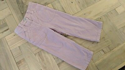 Next Baby Girls Lilac Cotton Cord Trousers Adjustable Inner Waist 18-24 Months