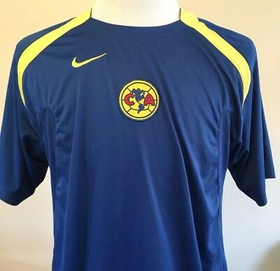Nike CLUB AMERICA Men s Large Jersey RARE Soccer Training Mexico Football  Vinage 216cabe97