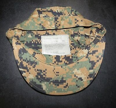 822a6be01c9 Usmc Woodland Marpat Camo 8 Point Garrison Cover Hat Small Sekri New