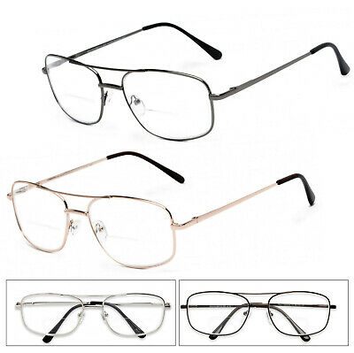 909c869684a 1 or 2 Pairs Metal Frame Inner Bifocal Reader Reading Glasses Spring Hinges