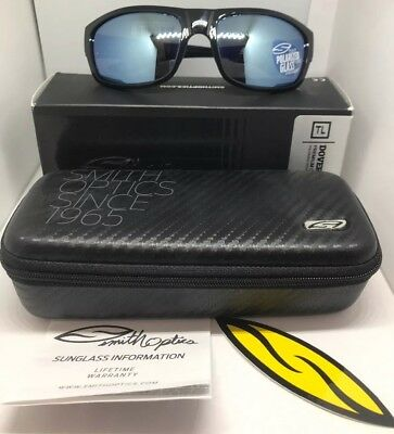 680468fc026 SMITH OPTICS BLACK Dover Blue Mirror Techlite Polarized Sunglasses ...