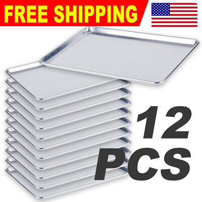 "12 PACK  18"" x 26"" Full Size Aluminum Sheet Baking Pan Commercial"