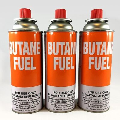 Iwatani Butane Canister 8 Oz. 3 Pc Pack
