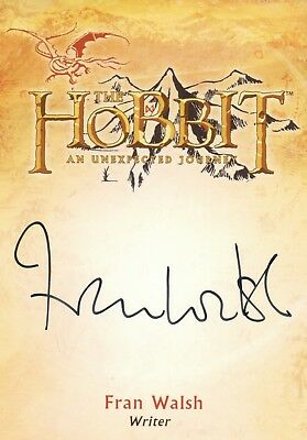 The Hobbit An Unexpected Journey, Fran Walsh 'Writer' Autograph Card CA-3