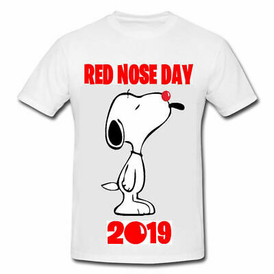 Red Nose Day 2019 T Shirt Teacher Children Personalise Fun Snoopy Adults
