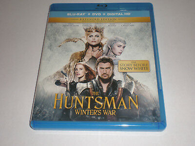 The Hunstman: Winter's War│Blu-Ray/DVD│No Digital Copy│No Slipcover│Like New