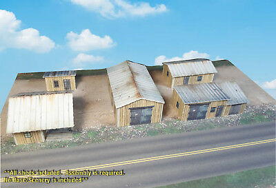 N Scale Buildings / Sheds - Multi Purpose Sheds Pre-cut Coverstock Kit LC1N