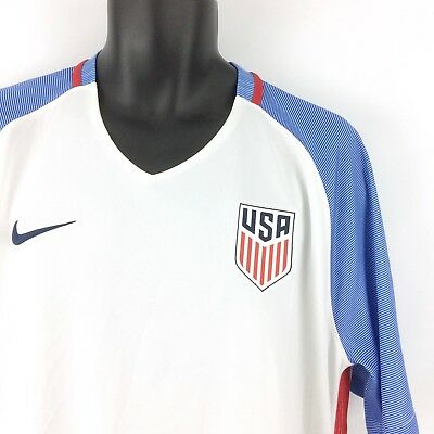 2f8b16b4f NIKE Dri-Fit men's XL USA Stadium Home Soccer Jersey shirt - NEW red white