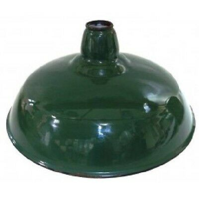 Mid-Century Green Porcelain Enamel Gas Station Light Industrial Barn Shade