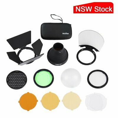 AU Godox AK-R1 Accessories Kit Honeycomb Snoot Diffuser Filters For AD200 H200R