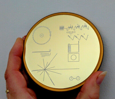 NASA Voyager Golden Record - Set of four coasters in metal gift box.
