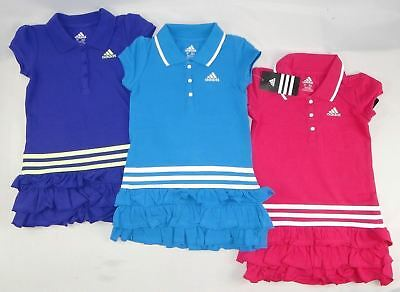Adidas toddler Girls Ruffled dress, Polo dress sizes 2,3,4