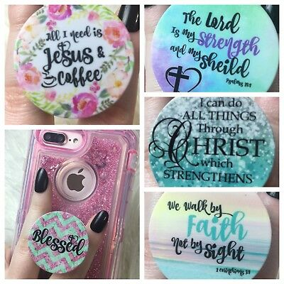 Pick Your Religious Grip! Christian Bible Jesus Phone Tablet Holder Blessed Gift