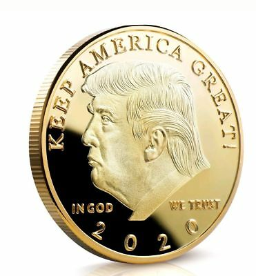 Donald J Trump 2020 Keep America Great Commander In Chief Gold Challenge Coin ON