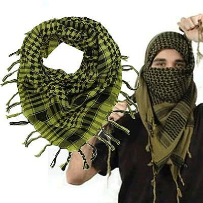 Light weight Military Arab Tactical Desert Army Shemagh KeffIyeh Scarf Yellow JS