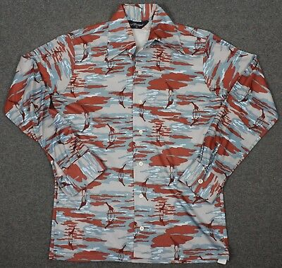 Donegal Vintage 70's Wearable Art Giraffes Disco Shirt Mens Medium
