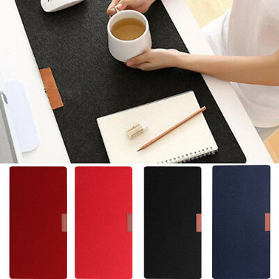 Soft Wool Felt Large Computer Desk Mat Modern Table Keyboard Mouse Pad 4 Colors.