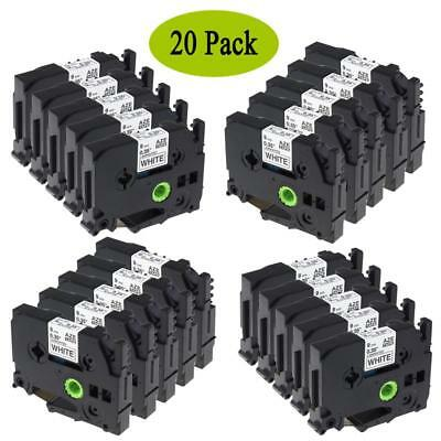 TZe-221 TZ221 Compatible for Brother P-Touch Label Tape Office Cassette 9mm 20pk