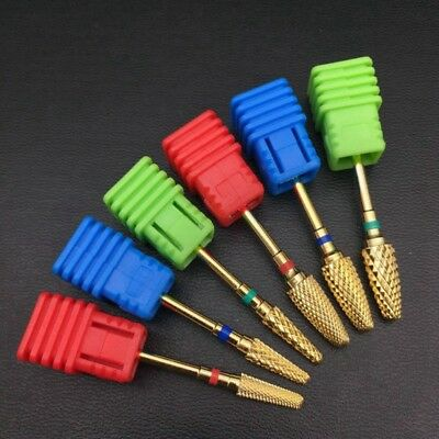 Carbide Rotary Nail Drill Bit Gold Smooth Round For Nail Art Salon Manicure Good